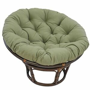 Groovy Details About 44 Inch Solid Twill Papasan Cushion Fits 42 Inch Papasan Frame Sage Cjindustries Chair Design For Home Cjindustriesco