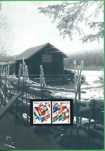 Norvege-N-1104-05-MNH-1994-J-O-de-Lillehammer