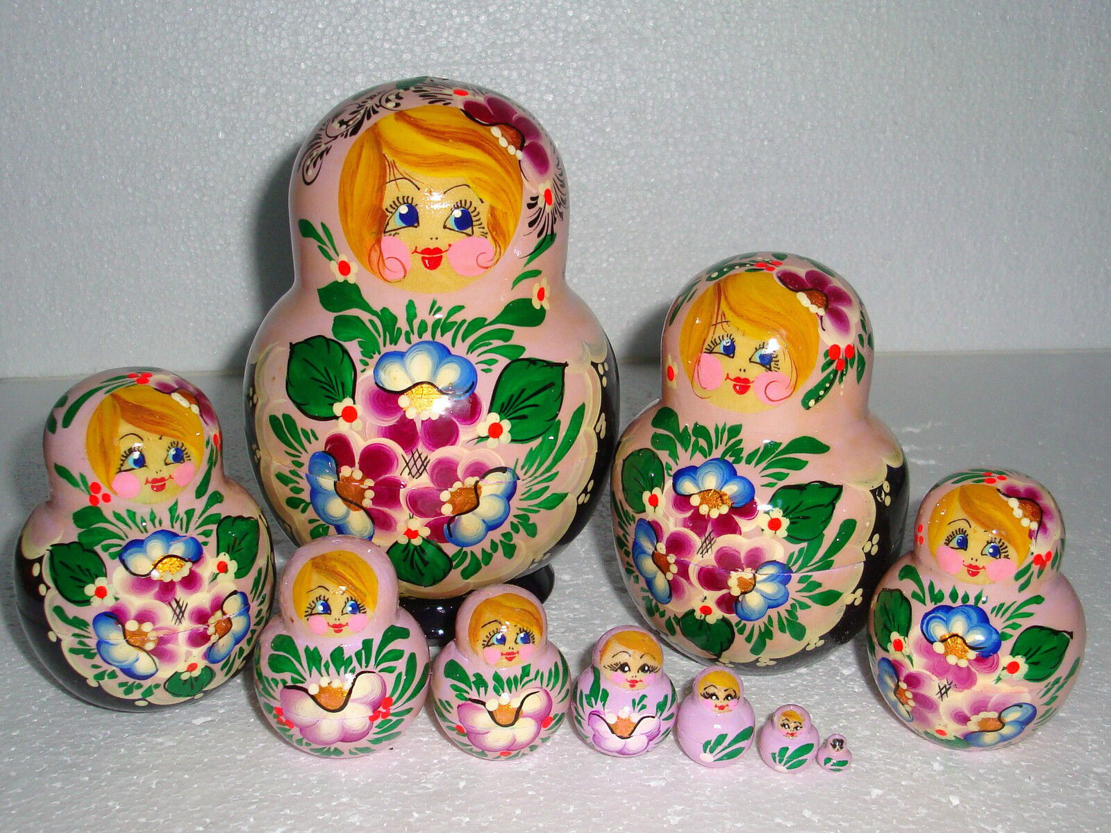 Beautiful Russian Nesting bambola10pc5.75 GORGEOUS e VERY CUTEHe  PAINTED  molte concessioni