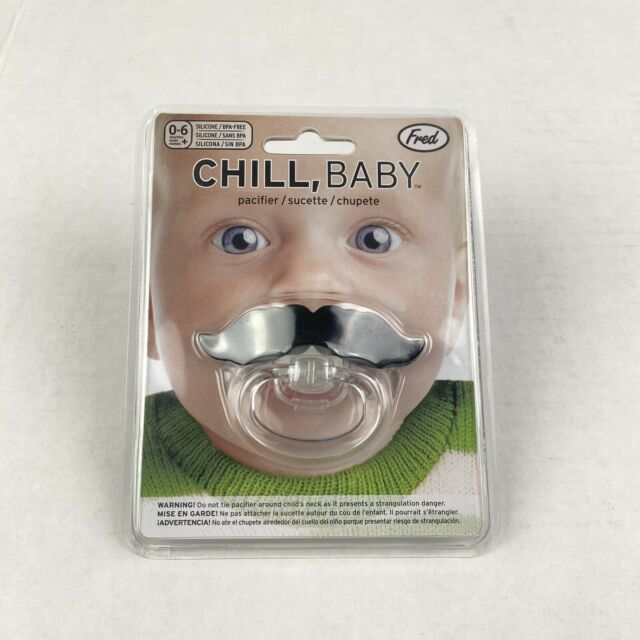 Mustache Pacifier by Fred Chill, Baby Funny Novelty HALLOWEEN Gag Gift  Binky