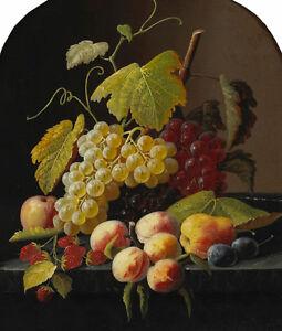 Excellent oil painting HENRI FANTIN-LATOUR still life fruits grape apple canvas