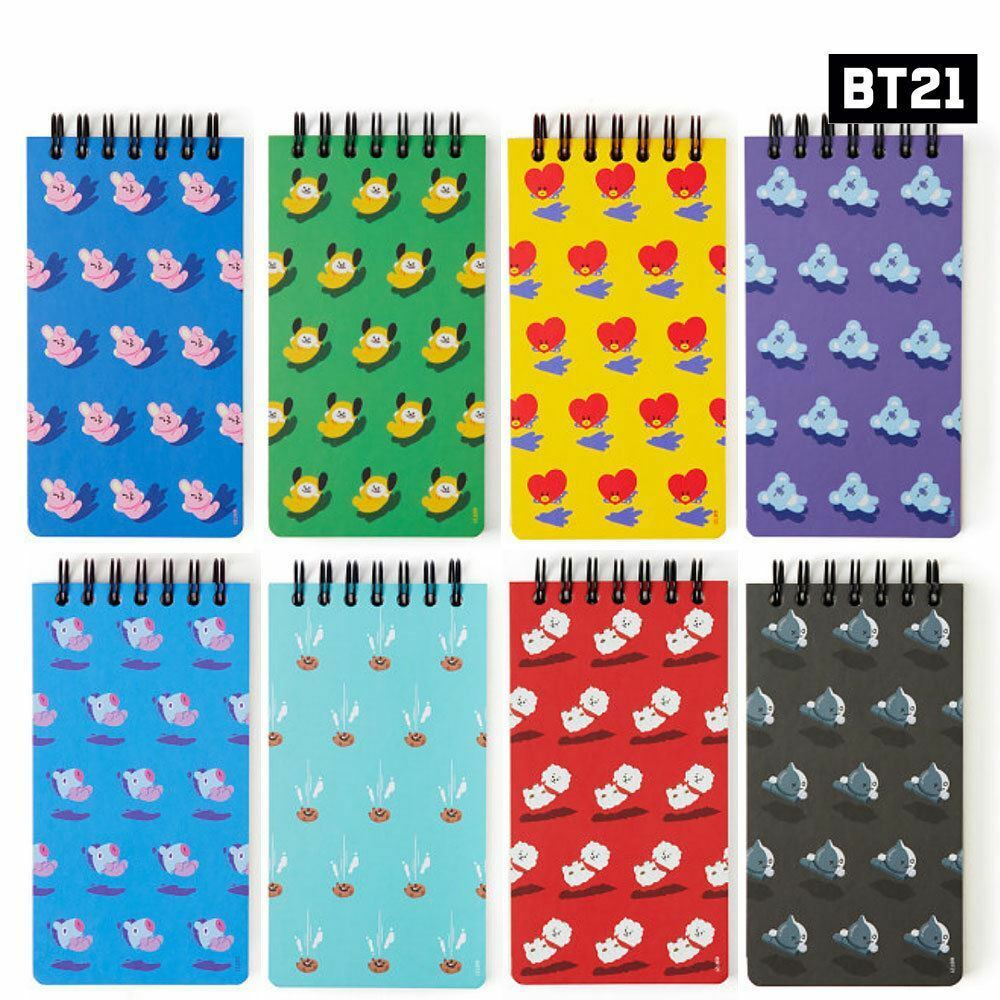 BTS BT21 Official Authentic Goods Spring Notebook 8Set Free Standard Shipping