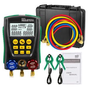 Details about Refrigerantion Digital Manifold Gauge HVAC Vacuum Pressure  Temp Leakage Tester