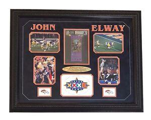 JOHN-ELWAY-SIGNED-AUTHENTIC-SUPER-BOWL-XXXII-TICKET-FRAMED-BRONCOS-BAS-SIGNED