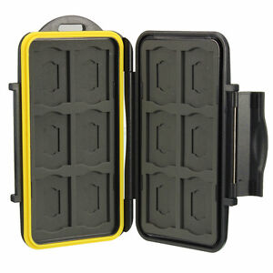 Water-resistant-Shockproof-Storage-Memory-Card-Case-For-12-SD-12-Micro-SD-Cards