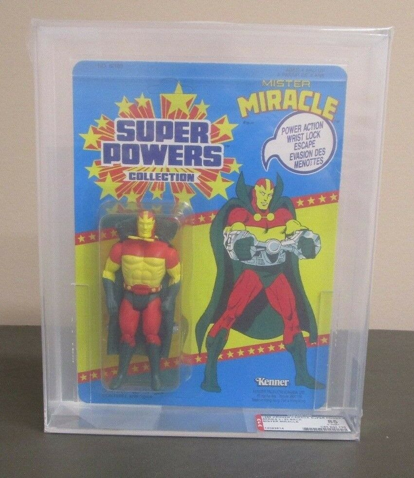 Mister Miracle 1986 SUPER POWERS Kenner AFA Graded Y-85 NM+