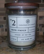 Chesapeake Bay Candle PUMPKIN /& CINNAMON 15.5oz Soy Wax ORANGE TREE GLASS 56hrs