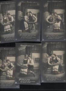 (a55407) 6 Cartes Postales Quand Mailüfterl Souffle-afficher Le Titre D'origine