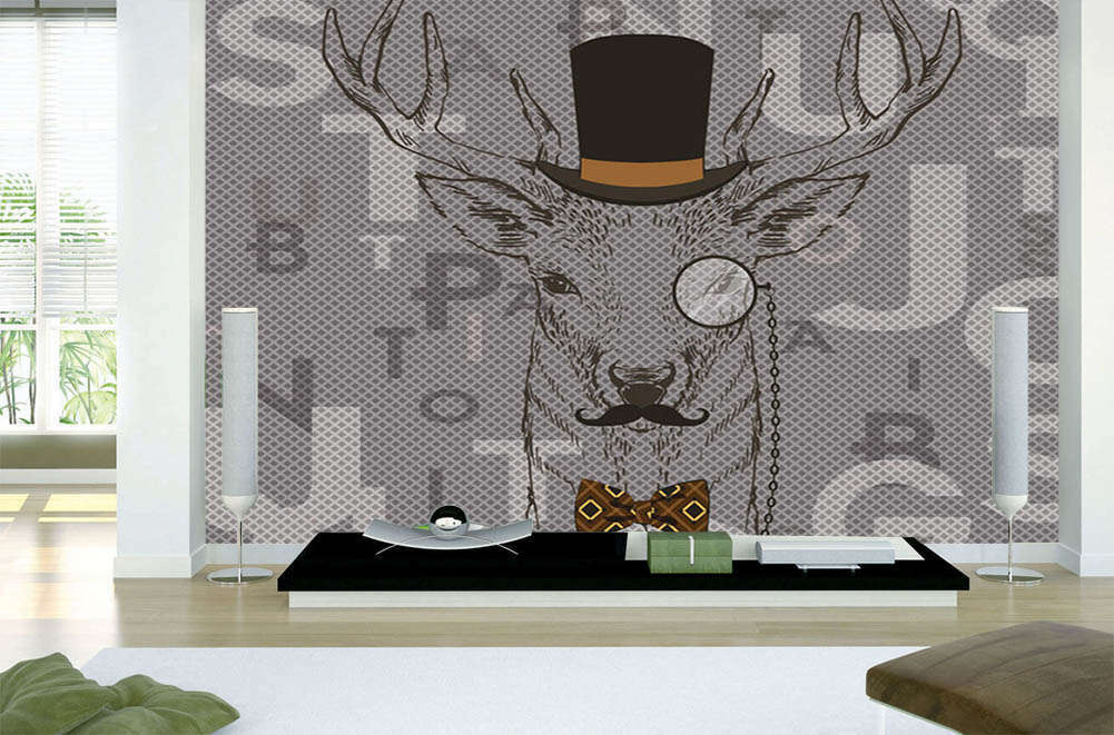 The Mr Learned Deer 3D Full Wall Mural Photo Wallpaper Printing Home Kids Decor