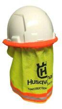 Husqvarna Construction Hard Hat Hi Viz Mesh Neck Shade Sun Shield