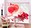 3D Red Ribbon Blockout Photo Curtain Printing Curtains Drapes Fabric Window AU