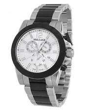 MILLAGE ESQUIRE COLLECTION ML-13817222026 SWISS QUARTZ CHRONOGRAPH DAYDATE WATCH