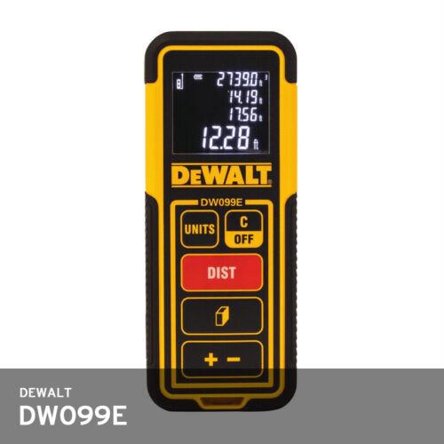 DeWalt DW099E laiser Distance Compteur 30 M ± 2 mm IP54 2x1.5V AAA 120x48.5x26mm 100 g