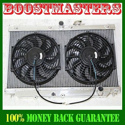 """Radiator+12/""""X2 Fan For 90-93 Accord 92-96 Prelud Manual Transmission ONLY EMUSA"""