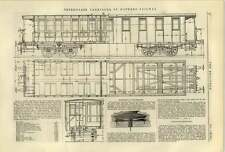 1884 Third Class Carriages St Gothard Railway Mechanical Telephone Ag Miller
