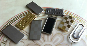 Stainless-Steel-Mens-Slim-MONEY-CLIP-Gold-Silver-Card-Cash-Holder-Novelty-Gift