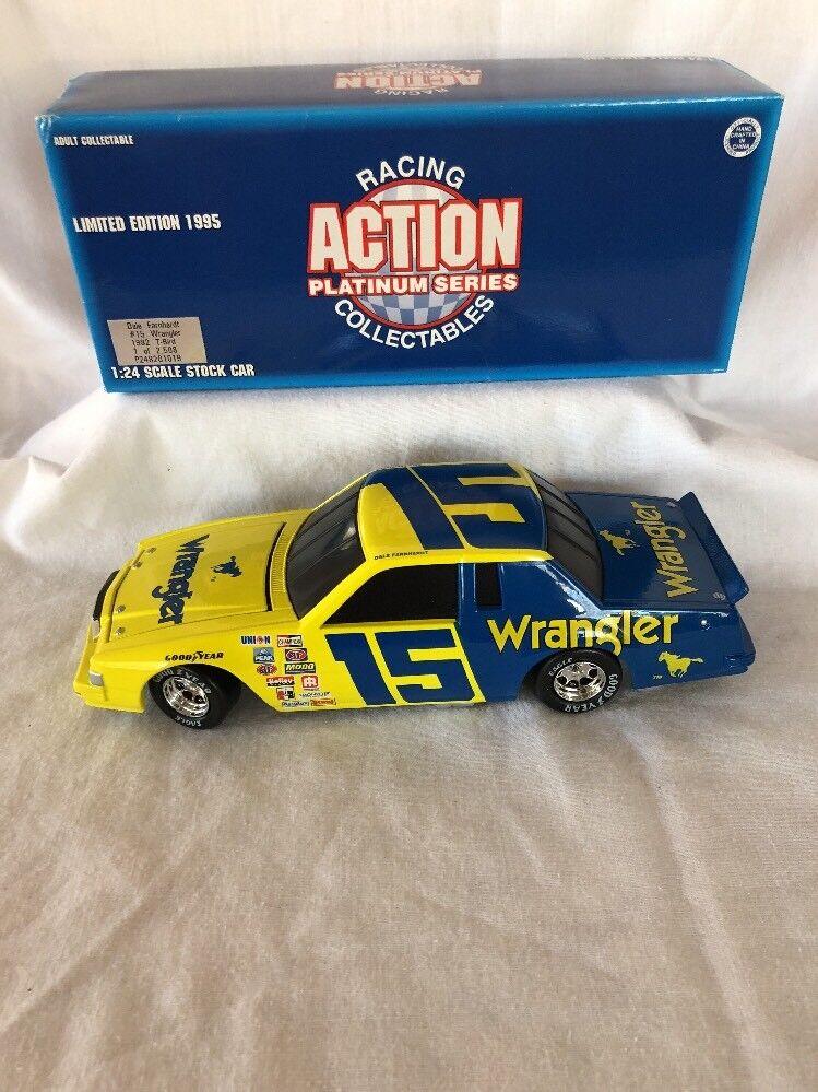 Action Dale Earnhardt 1982 TBird Wrangler Rare  2508 1 24 Scale