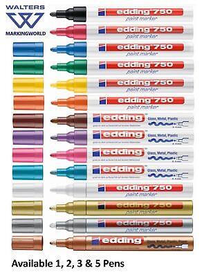 Aggressivo Edding 750 Paint Pennarello, Medium Proiettile Tip, Tutti I Colori, Per Hobby E Artigianato-