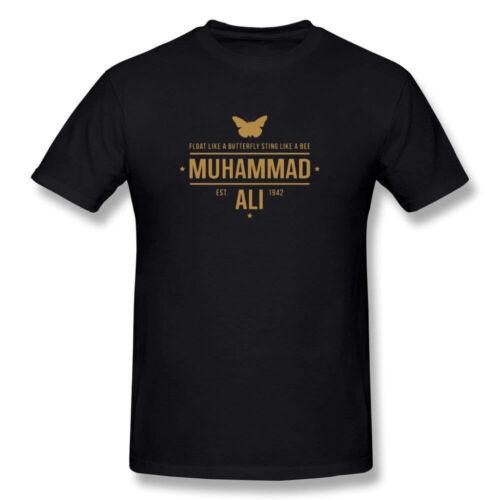 Men/'s MUHAMMAD ALI Short Sleeve T-Shirt Black 100/% Cotton