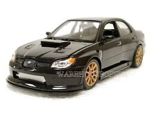 WELLY 1:24 DISPLAY 2005 SUBARU IMPREZA WRX STI DIECAST CAR BLACK 22487NS-4D
