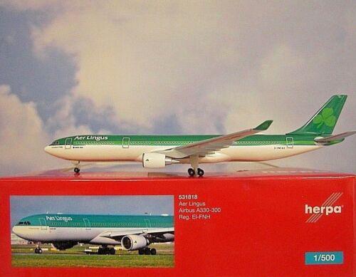 Herpa Wings 1:500 Airbus A330-300 Aer Lingus EI-FNH  531818  Modellairport500