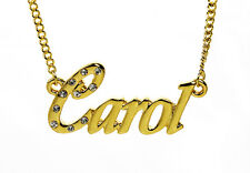 18K Gold Plated Necklace With Name CAROL - Neckless Personalised Christmas Gifts
