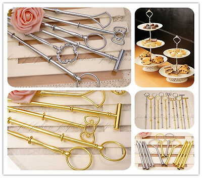 18 Styles 3 Tier, 2 Tier Metal Cake Plate Stand Centre Handle Set for Party Tool