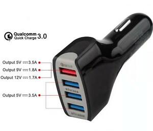 Cargador-35W-4x-USB-de-Coche-Carga-Rapida-Qualcomm-QC-3-0-Adaptive-Fast-Charging
