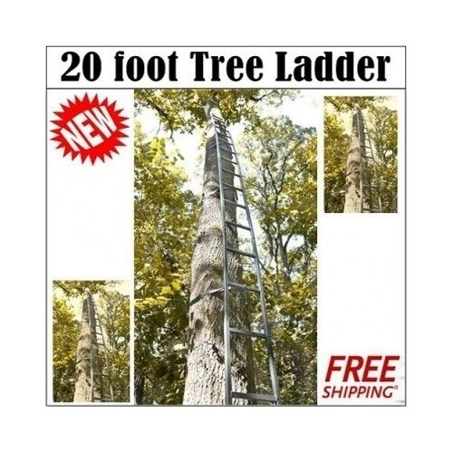 20' Hunting Tree Ladder easy get up to Tree stand F  Deer,Turkey Hunters
