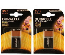 100% GENUINE DURACELL 9V BATTERIES ALKALINE MN1604 6LR61 PACK x2