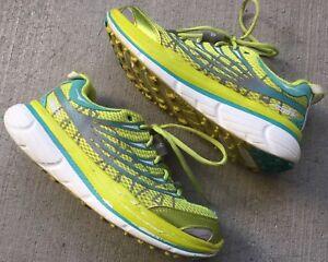 790e2127de62c Hoka One One Conquest Women Running Shoes Size 8.5 EUC Green | eBay