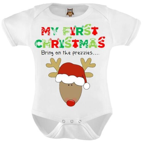 Reindeer My 1st Christmas Baby Romper Christmas Present 1.0 Christmas Baby Vest