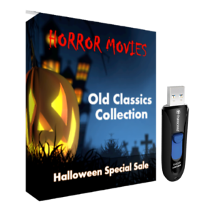Public Domain Old Horror Movies Classics 108 Titles on USB Drive HALLOWEEN SALE