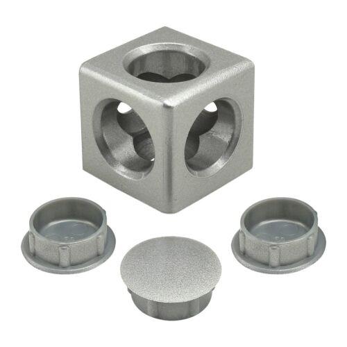 80//20 Inc T-Slot Aluminum 3 Way Light Squared Connector 30 Series #14171 N