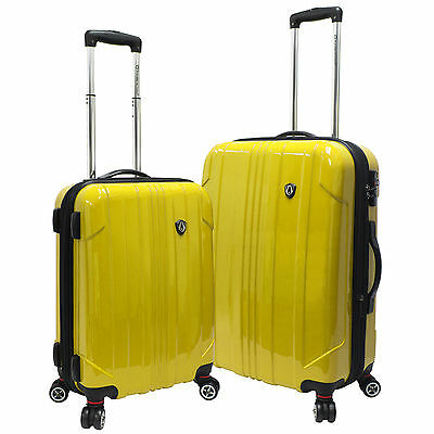"Traveler Choice Yellow Sedona 100% Polycarbonate 21"" 25"" Spinner Luggage Bag Set"