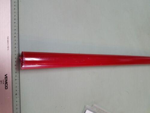 """POLYURETHANE 95 A RED TUBE P//N 11665 1//2/"""" ID x 1-1//4/"""" OD X 24/"""" LONG URETHANE"""