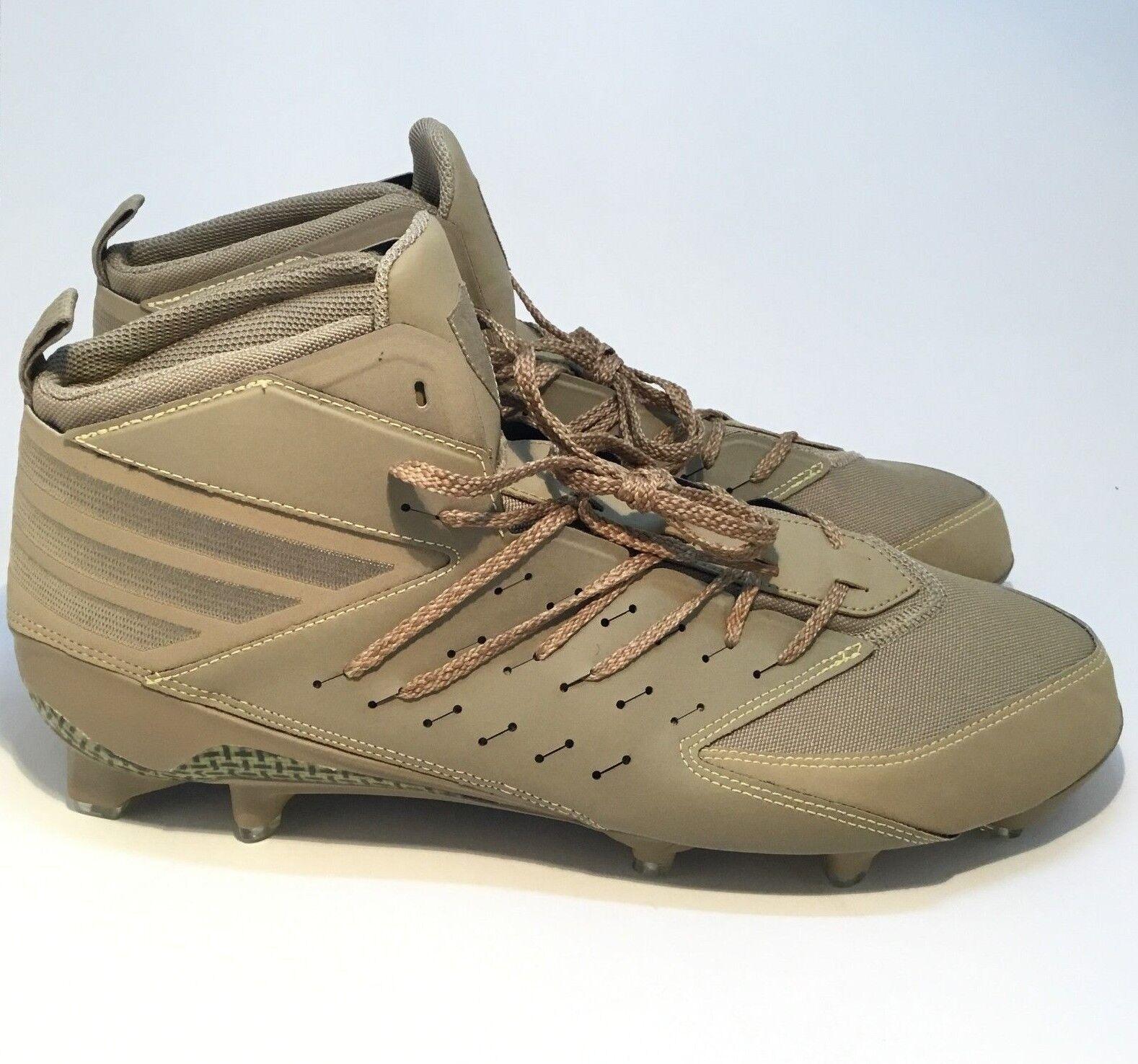 Adidas Dark Ops Freak x Kevlar Cleats Men's Football Hemp Sand Size 14 AQ6836