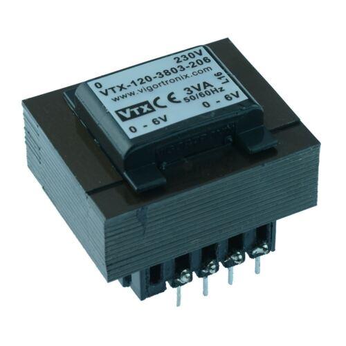 VTX-120-3803-2045 PCB Transformer 230V 3VA 4.5V+4.5V Vigortronix