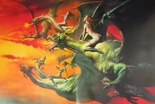 Boris Vallejo Vintage Art Nude Fantasy Print 1981 Woman Poppy Mist Opium Sword