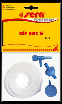 "Pet Supplies Considerate Sera Air Set Kit ""s"" Aeratore Per Acquario Con Tubo Pietra Porosa Valvola Tubing & Valves"