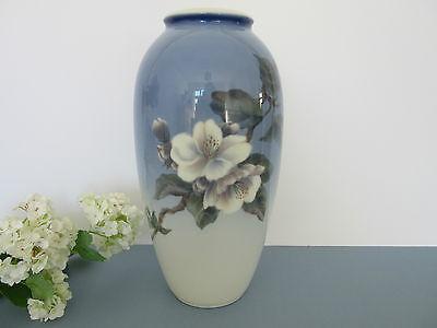 "Royal Copenhagen Large 10.5"" Butterfly & Apple Blossom Vase  No 2629"