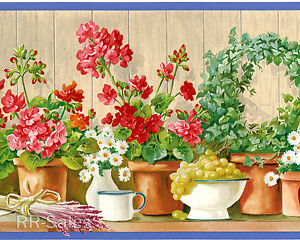 Image Is Loading Brigth Flowers Garden Pots Grapes Gardenia Daisy Vintage