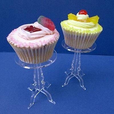 5pcs of single Crystal Acrylic Round Cake Cupcake Stand Wedding Birthday Display
