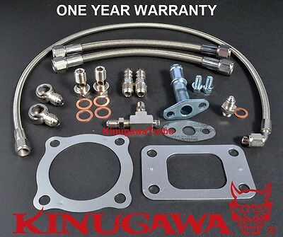 Turbo Install Kit Garrett GT3076R GT3582R T3 Flange / 4 Bolt Ball Bearing