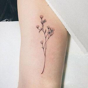 1 Blatt Frisches Gras Blumen Tattoo Temporäre Diy Arm Körperkunst