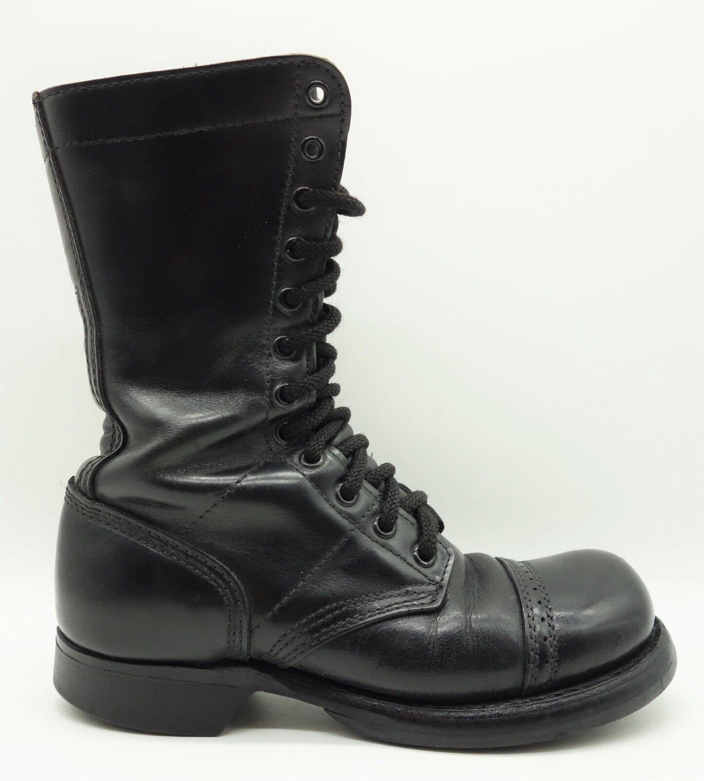 una marca di lusso Corcoran Inc. Inc. Inc. nero Leather Lace Up Steampunk Cap Toe stivali scarpe Donna  6 M  prezzo più economico