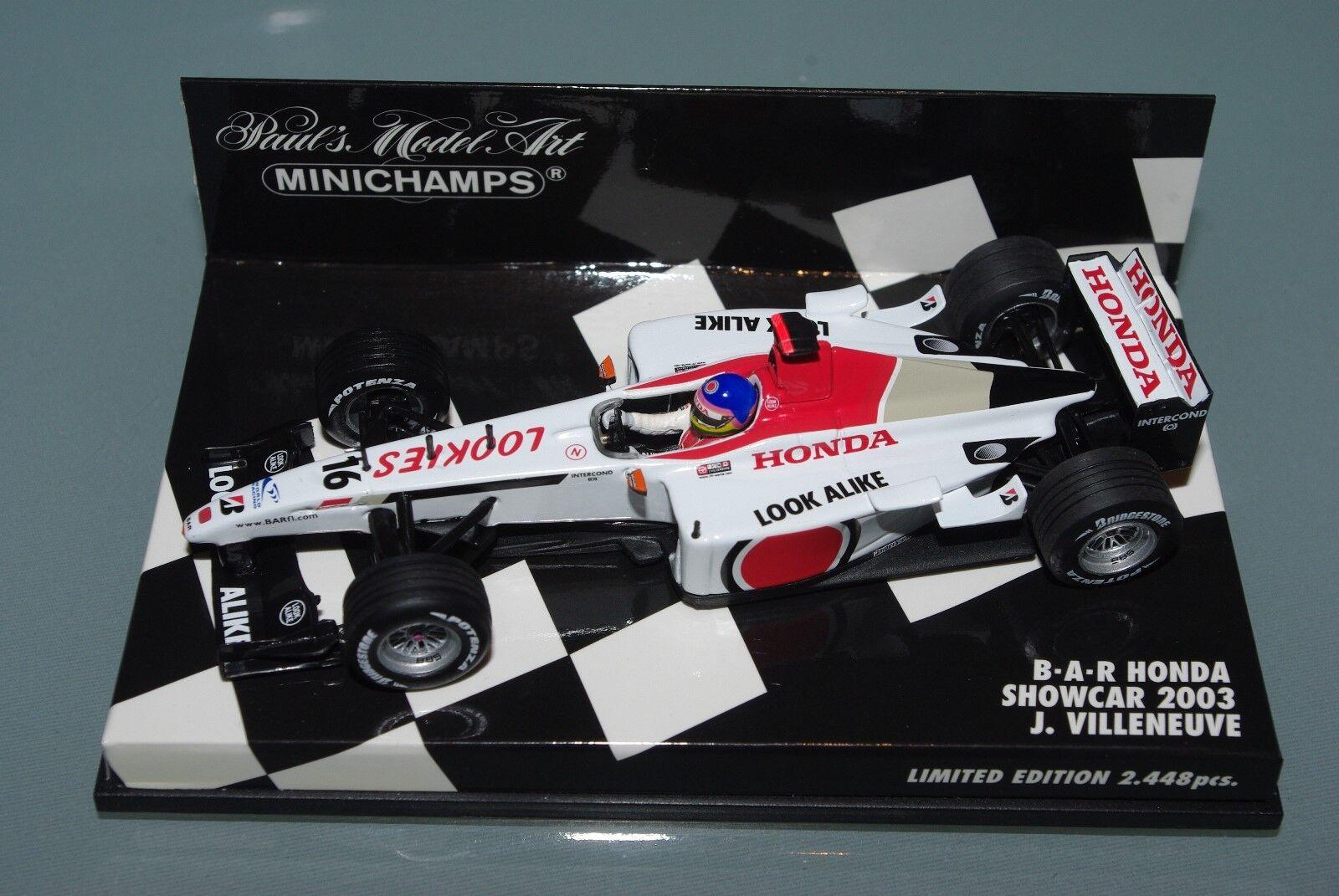 Minichamps F1 1 43 BAR HONDA SHOWCAR 2003 - JACQUES VILLENEUVE