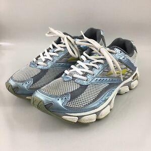 Running Training White Blue Gray Shoes