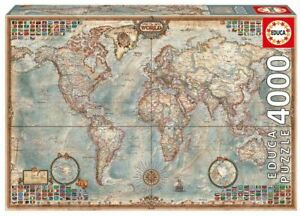 EDUCA Jigsaw Puzzle HISTORIC WORLD MAP 4000 pieces