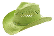 MG Womens Straw Outback Toyo Cowboy Hat Mint #11114